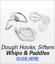 Dough Hooks, Sifters, Whips & Paddles